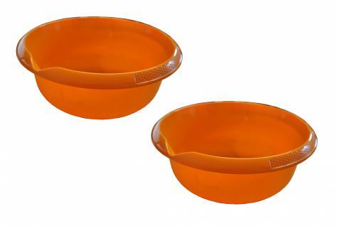 2er Set Rührschüssel Küchenschüssel Salatschüssel Teigschüssel Schale ca 3, 5 l