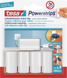 "Tesa POW.STRIPS-KABEL-CLIP Kabelclip ,, Powerstrips®"" 58035"