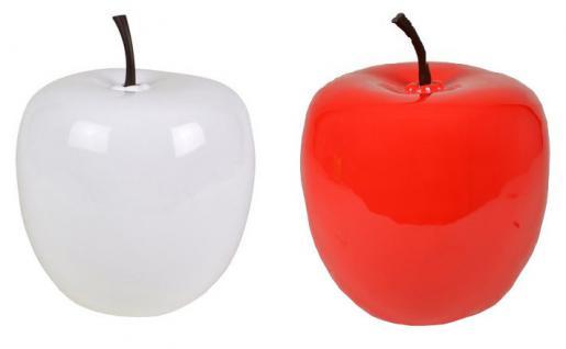 Deko-Apfel 30 cm Rot oder weiß