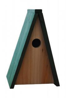 Grüner Jan Vogel Nisthöhle aus Holz 18x13, 5x28cm