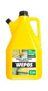 Wepos Algen und Moos Entferner 4x 2Liter Konzentrat