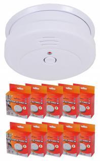 10x SystAlert® Rauchmelder mit Batterie 5 Jahre Feuermelder Rauchwarnmelder 85dB