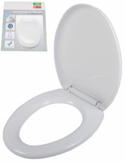 WC Sitz Toilettensitz weiß Absenkautomatik Kunststoff antibakteriell Duroplast