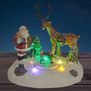 LED-Winterlandschaft Weihnachtsmann Rentier Kinder Schnee Weihnachtsdeko Winter