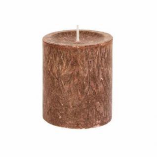 Diamond Candles Stumpenkerze mocca 70x80 mm Wachskerze Deko Wachs Kerze