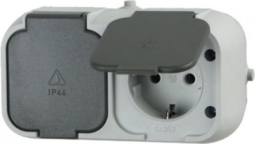 STECKDOSE Schutzkontakt-Steckdose 10226 2-fach Standard Ap
