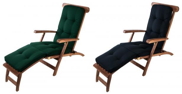 Auflage Teak Deckchair Relaxliege Liegestuhl Sonnenliege Gartenliege Gartenstuhl