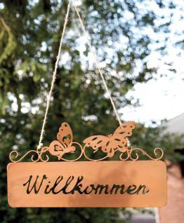"""METALLSCHILD Schild ,, Willkommen"""" Willkommen 123160c"""
