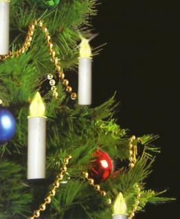 10 LED Weihnachtskerzen mit Fernbedienung kabellos