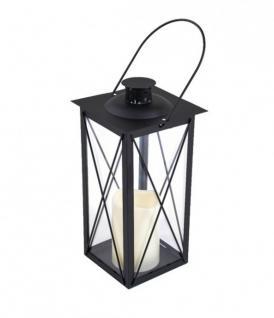 Metall-Laterne mit LED Kerze