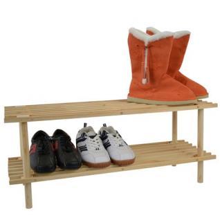 Schuhregal mit 2 Ablageböden
