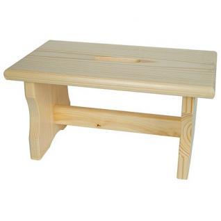 Holz-Fußbank Steighilfe Tritthocker Holzbank Fußhocker Hocker Holztritt