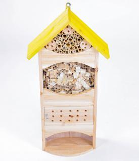Grüner Jan Insektenhotel aus Holz und Bambus