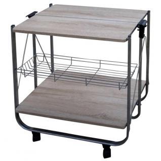 Küchenwagen mit 3 Ablagen Küchentrolley Beistellwagen Servierwagen Küchenregal