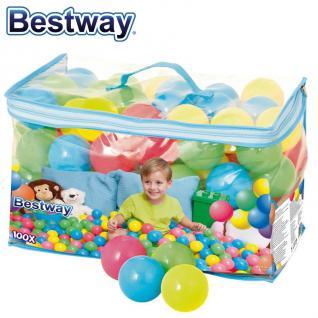 Ballset 100 Stück Ersatzbälle Bällebad 4 Farben Spielbälle Kinderbälle Kugeln