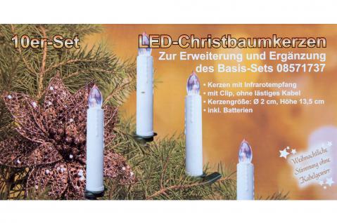 10er LED Christbaumkerzen Erweiterung
