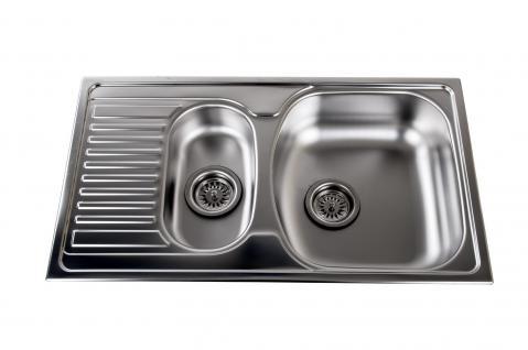 ROYALCERT Malta Einbauspüle Edelstahlspüle Spülbecken Küchenspüle Spüle