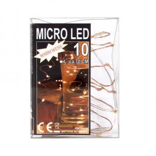 Micro 10 LED-Lichterkette Beleuchtung Licht Lichtschlauch Weihnachtsbeleuchtung
