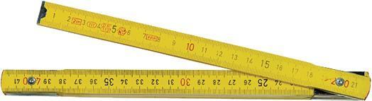 MASS-STAB Holzgliedermaßstab 10gl Holz Gelb 2m