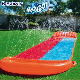 Bestway Doppel-Wassergleitrutsche H2O Go 5, 49m Wasserrutsche Rutsche Wasser Spaß