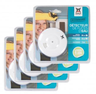4x Wassermelder 85dB Bad Küche Keller Überschwemmungs-Alarm Wasserleck-Detektor