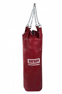 BRYAN Boxsack Sandsack Kustleder Stahkette 100x30cm Boxen Kickboxen Sack