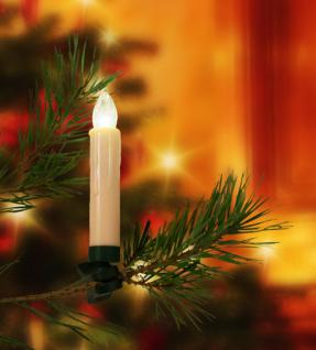 10er LED Christbaumkerzen kabellos Weihnachtskerzen Weihnachtsbaum Lichterkette