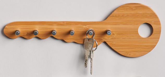 """SCHLÜSSELLEISTE Schlüsselleiste ,, Schlüssel"""" Bamboo/edelst."""