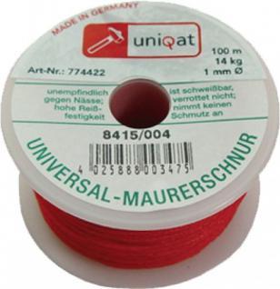 Uniqat M-SCHNUR Maurerschnur Polyae 100m 1mm Rot 8415/4