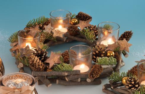 adventskranz kerzenkranz k nstlich kaufen bei floristik vdh. Black Bedroom Furniture Sets. Home Design Ideas