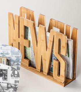 """ZEITUNGSSTÄNDER Magazinständer ,, News"""" News 42x11x33"""