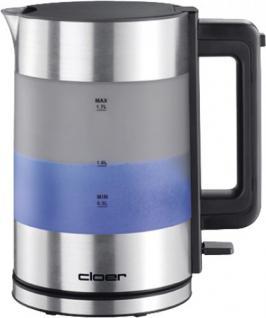 Cloer Elektrogeräte CLOER Wasserkocher 4019 Wasserkoch 1, 7l Alu