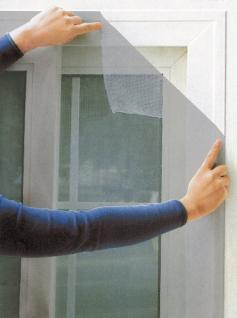 Fliegengitter für Fenster 140 x 140 cm grau