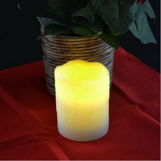 LED Wachskerze weiß 8x10cm