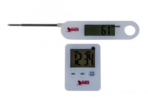 Technoline Bratenthermometer Fleischthermometer Küchenuhr Grillthermometer