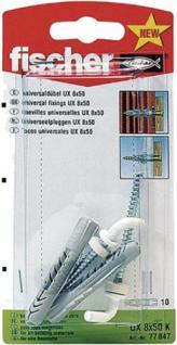 Fischer FISCH.DÜBEL/HAKEN Universaldübel UX 8 x 50 WH N K Ux8x50whnk
