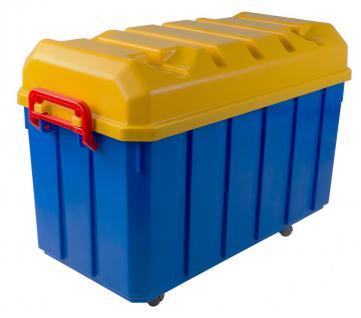 150 Liter Jumbo Rollenbox Aufbewahrungsbox Rollkiste Allzweckbox Kiste Deckel