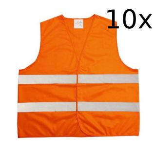 10x Warnweste Sicherheitsweste