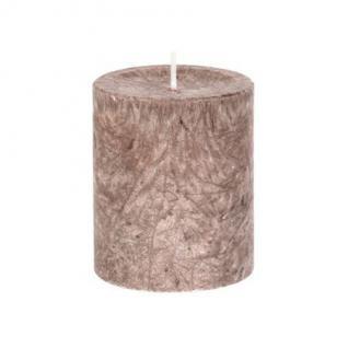 Diamond Candles Stumpenkerze stein 70x80 mm Wachskerze Deko Wachs Kerze