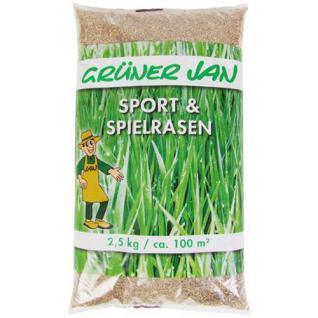 Sport und Spielrasen 2, 5 kg Sämereien Grassamen Rasensaat Saatgut Gras Rasen neu