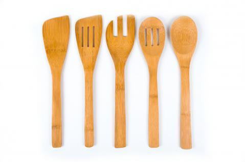 5er Set Bambus Küchenhelfer