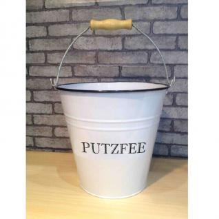 Deko-Eimer 5 Liter Putzeimer Putzfee retro vintage Blecheimer Eimer Wassereimer