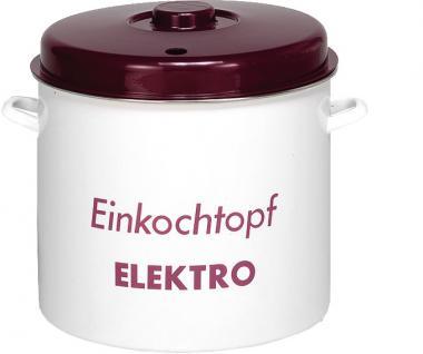 EINKOCHER Einkochtopf ER35P Emaille Mit Deckel