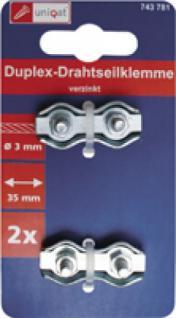 Uniqat Duplex Drahtseilklemme Duplex-drahtseilkl.4mm Vz 2st