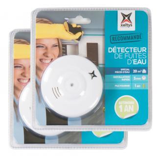 2x Wassermelder 85dB Bad Küche Keller Überschwemmungs-Alarm Wasserleck-Detektor