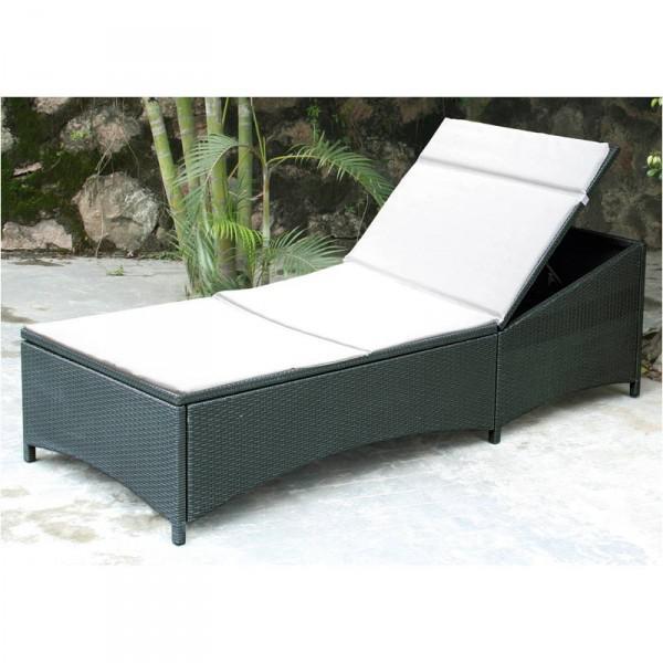poly rattan liege anthrazit kaufen bei. Black Bedroom Furniture Sets. Home Design Ideas