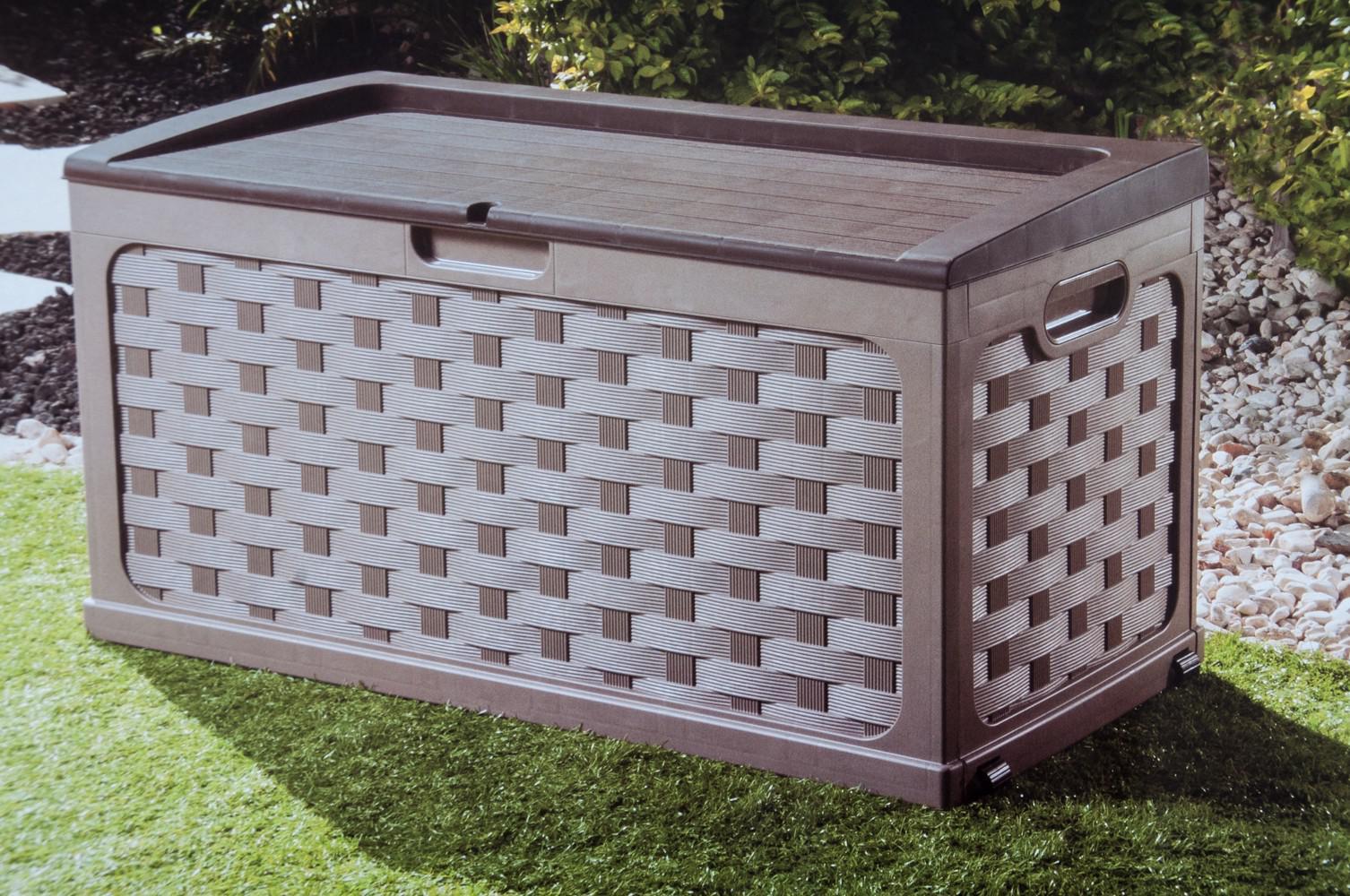 starplast kissenbox rattanoptik auflagenbox gartenbox gartentruhe gartenm bel kaufen bei www. Black Bedroom Furniture Sets. Home Design Ideas