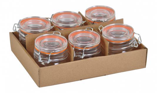 6 tlg. Drahtbügelgläser 90ml Einmachgläser Einweckglas Glas Bügelverschluss