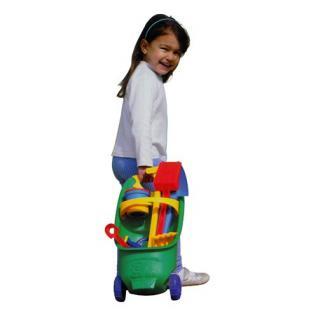 kinderrollwagen mit gartenspielzeug kinder harke schaufel. Black Bedroom Furniture Sets. Home Design Ideas