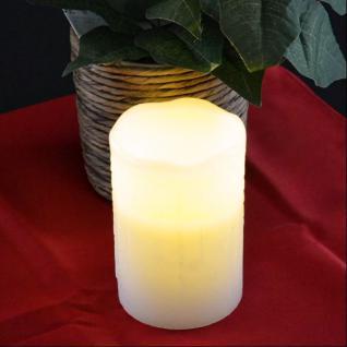 LED Wachskerze weiß 8x12, 5cm